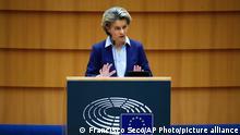 Belgien EU Parlament Covid-19 Impfungen Ursula von der Leyen
