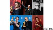 The 2021 Berlinale jury: Adina Pintilie, Nadav Lapid, Mohammad Rasoulof, Jasmila Zbanic, Gianfranco Rosi, Ildiko Enyedi