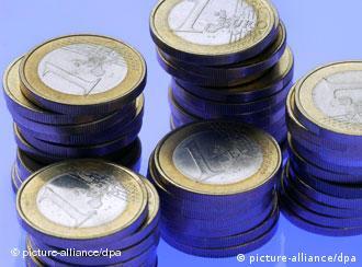 Stapel von 1-Euro-Münzen (Foto: dpa)