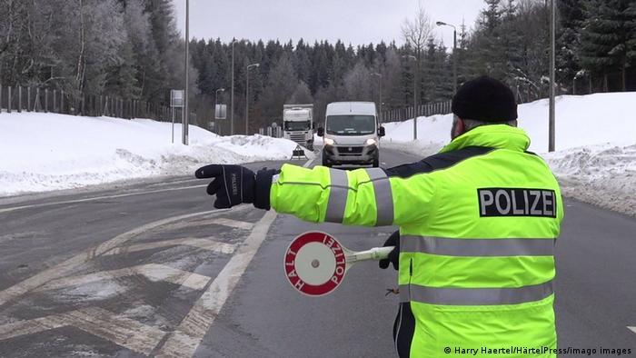 Deutschland Sachsen Grenzkontrolle