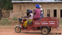 Afrika Verkehrsförderugn in Simbabwe mit recycleten Batterien