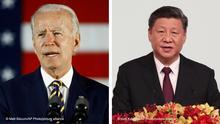 Kombobild Biden und Jinping