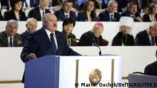 Belarus Rede Präsident Alexander Lukaschenko vor Volksversammlung
