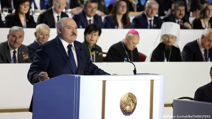 Александр Лукашенко выступает на VI Всебелорусском народном собрании