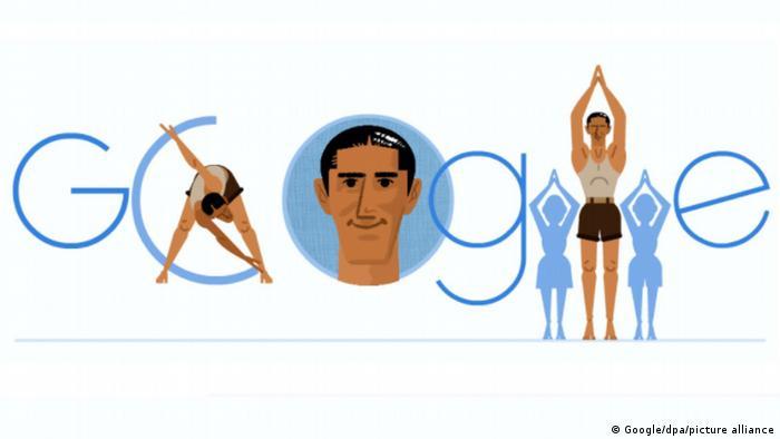Google-Startseite mit Doodle Fredy Hirsch