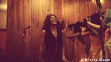 Film still 'Tina': A young Tina Turner smiling in a recording studio
