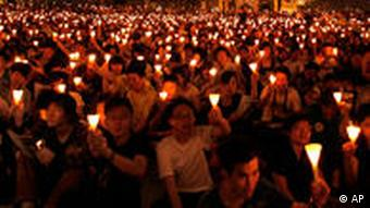 Thousands of people remember the massacre on June 4 in Hong Kong