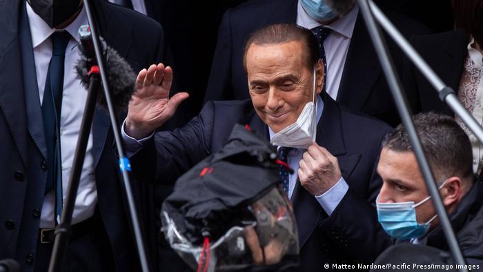 Italien Regierungskrise   Sondierungen Mario Draghi   Silvio Berlusconi