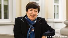 Nubia Muñoz en 2018 en Madrid, donde recibió el Premio Fronteras del Conocimiento de la Fundación BBVA.