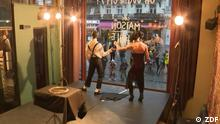 Fokus Europa Belgien Zirkus Schaufenster