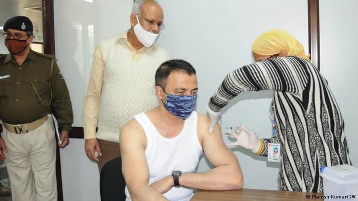 Indien Patna Impfung Covid-19