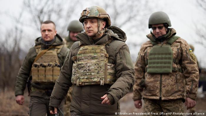 Ukrajinski predsednik Zelenski u poseti istoku zemlje (februar 2021)