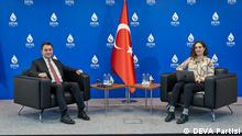 Ali Babacan, the leader of DEVA Party, spoke to DW at the party headquarters in the Turkish capital of Ankara. Source: DEVA Partisi