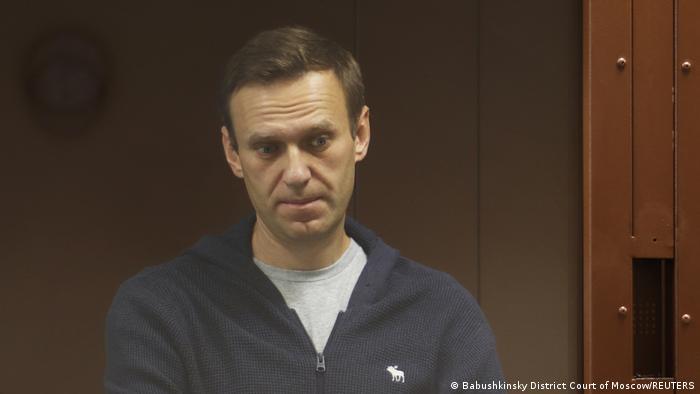 Russland Alexej Nawalny im Gericht in Moskau