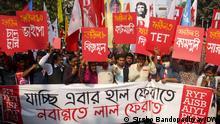 Indien Linke Studenten Bewegung Protest