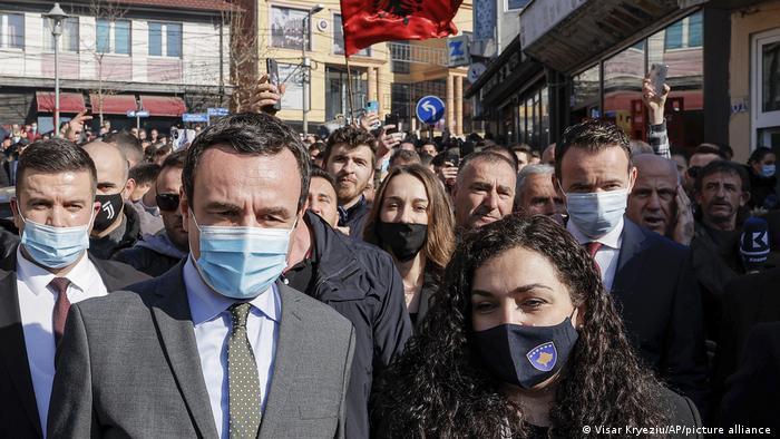 Kosovo Wahlen Wahlkampf Albin Kurti