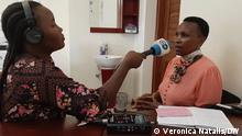Tansania Arusha Veronica Natalis interviewd Involata Dominic Mosha