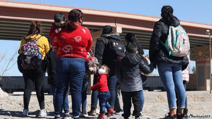 Migrantes en El Paso.