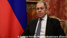 Russland Außenminister Sergej Lawrow