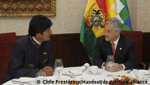 Evo Morales and Sebastian Pinera