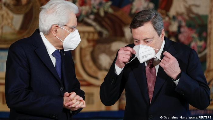 Μάριο Ντράγκι και Σέρτζιο Ματαρέλα στη Ρώμη