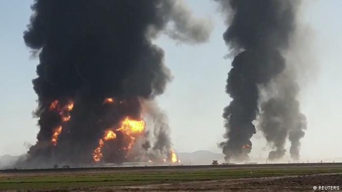 Afghanistan Herat | Feuer nach Explosion eines Gastanks