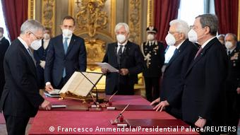 Από την ορκωμοσία του Μάριο Ντράγκι ως πρωθυπουργού της Ιταλίας