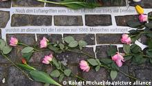 Deutschland 76. Jahrestag der Zerstörung Dresdens