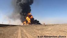 Afghanistan Feuer ausgebrochen in Grenzübergang Islam Ghaleh