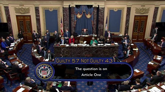 Демократи не змогли заручитися підтримкою 67 сенаторів для оголошення імпічменту Трампу