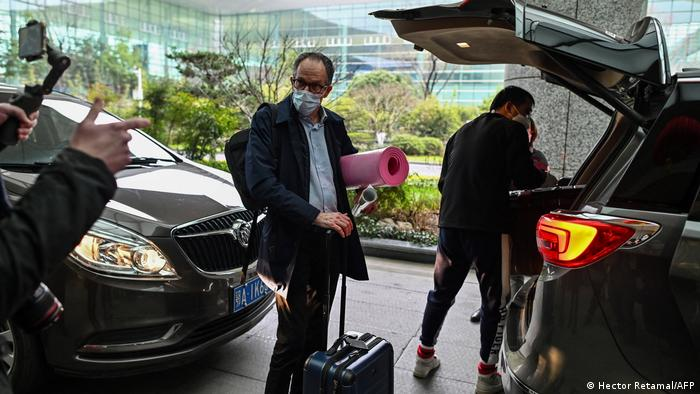 World Health Organization researcher Peter Ben Embarek on a mission in Wuhan, China