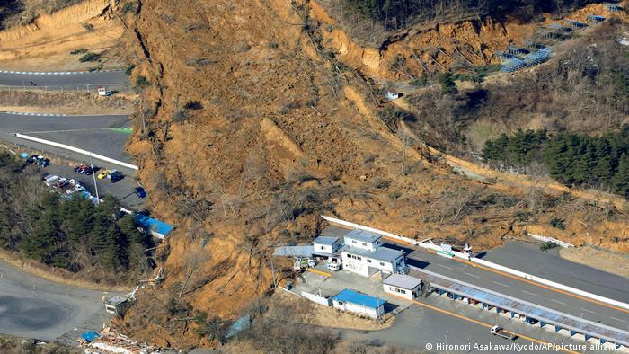 Erdbeben Japan Präfektur Fukushima | Erdrutsch in Nihonmatsu