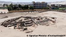 A handout picture released by the Egyptian Ministry of Tourism and Antiquities on February 13, 2021, shows the remains of what may be the world's oldest high-production beer brewery, uncovered in the Abydos archaeological site near Egypt's southern city of Sohag. (Photo by - / Egyptian Ministry of Antiquities / AFP) / === RESTRICTED TO EDITORIAL USE - MANDATORY CREDIT AFP PHOTO / HO / EGYPTIAN MINISTRY OF ANTIQUITIES- NO MARKETING NO ADVERTISING CAMPAIGNS - DISTRIBUTED AS A SERVICE TO CLIENTS ==