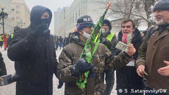 Провокаторы на акции в Москве