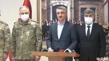 Türkei Malatya | Gouverneur Aydın Baruş währemd Pressekonferenz zu Luftangriffen gegen die PKK