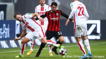 Amin Younes in action for Eintracht Frankfurt against Cologne