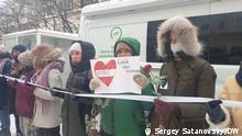 Russland Moskau | Solidaritätsaktion | Yulia Navalnaya