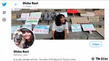 Screenshot Twitter | Disha Ravi
