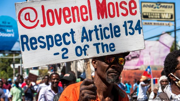 Haiti Demonstration in Port-Au-Prince
