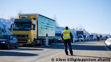 Deutschland Grenze zu Tschechien Coronavirus Test Kontrolle