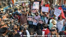Indien Festnahme Prozess Umweltaktivistin Disha Ravi Protest