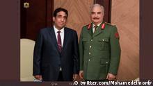 Muhammad Yunus Al-Manfi Bild entnommen: @ Mohamedelmon Der offizielle Account des neuen Präsidenten des libyschen Präsidentenrates Quelle: https://twitter.com/Mohamedelmonfy/status/1359884156461842433 (aufgerufen 15.2.2021)