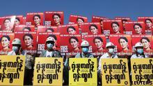 Myanmar Proteste nach Militärputsch