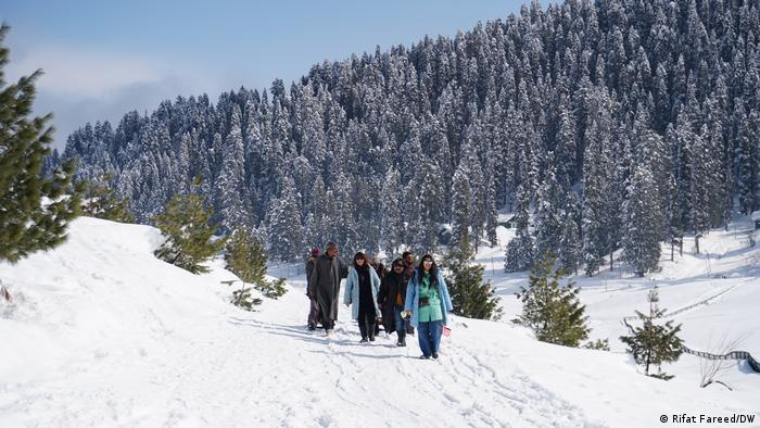 Gulmarg was developed as a resort by the British nearly a century ago, and the region's eternal appeal with foreign visitors has made it a year-round destination. In summer, tourists meander through meadows, ravines and evergreen-forested valleys. In winter, they snowboard and trek on Asia's largest ski terrain.
