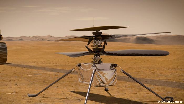 Гелікоптер на Марсі