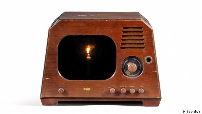 Nam June Paik's wooden television frame called Sonatine for Golfish.