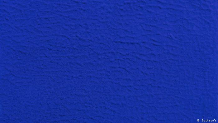 French artist Yves Klein's painting with his trademark blue