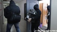 Belarus Minsk Durchsuchung im Büro der unabhängigen belarussischen Journalistenvereinigung (BAJ)