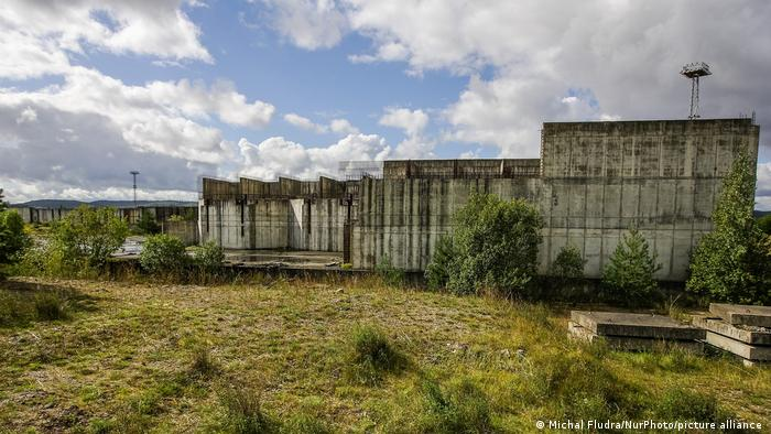 A derelict half-constructed nuclear reactor in Zarnowiec
