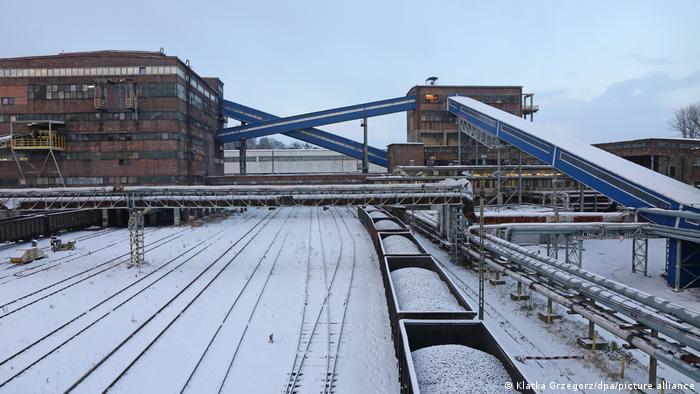 The Boleslaw Smialy coal mine is seen in Laziska Gorne, Silesia, Poland